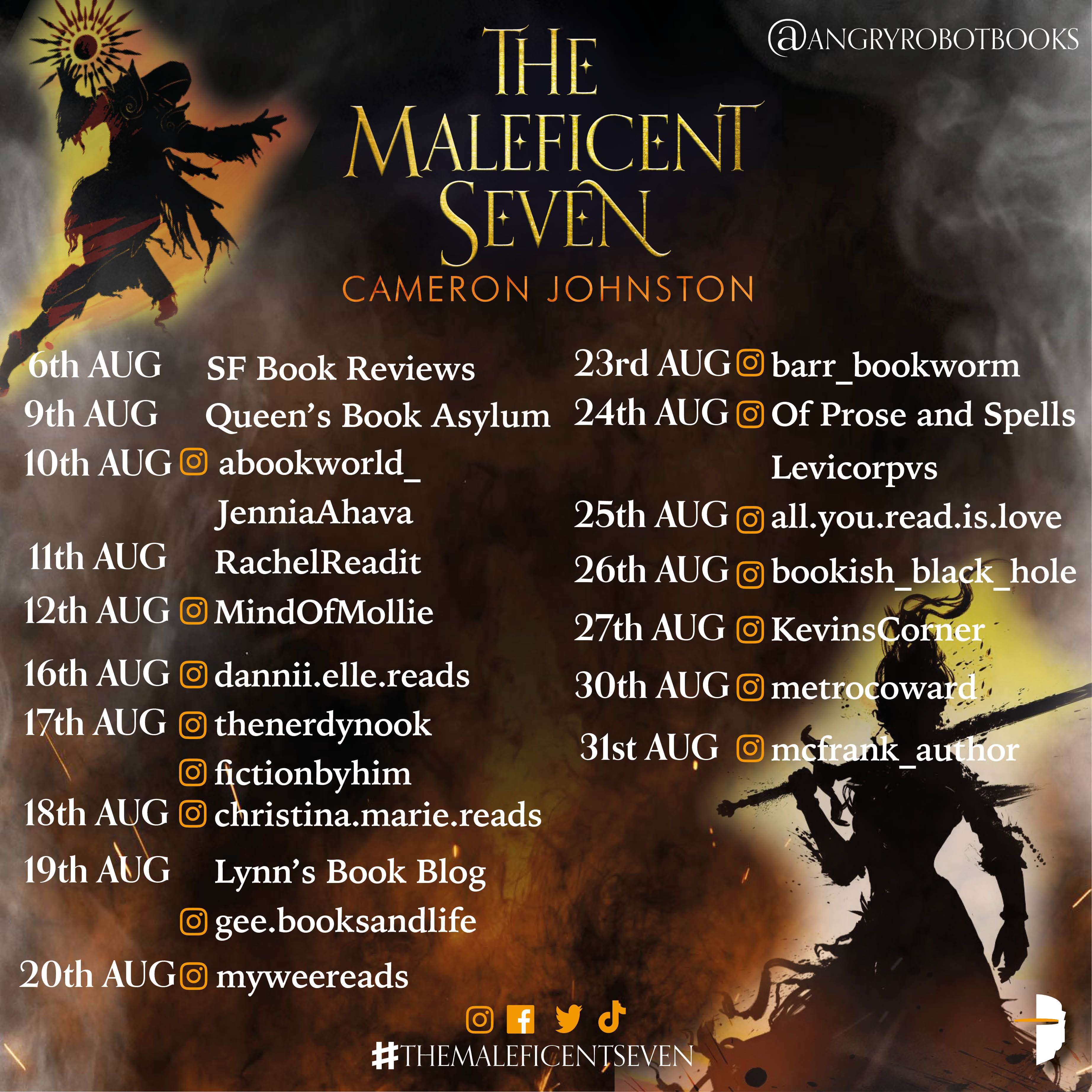 The Maleficent Seven book tour